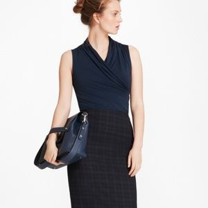 BrooksCool Plaid Merino Wool Skirt
